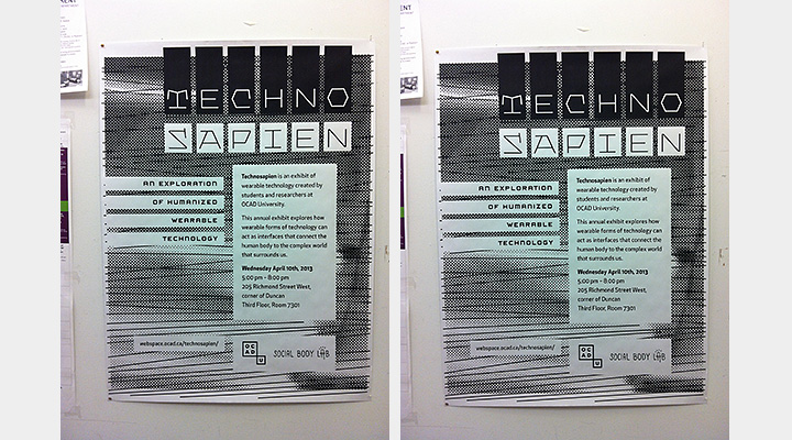 Technosapien Poster in Student Building