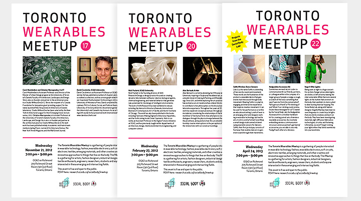 Toronto Wearables Meetup Poster